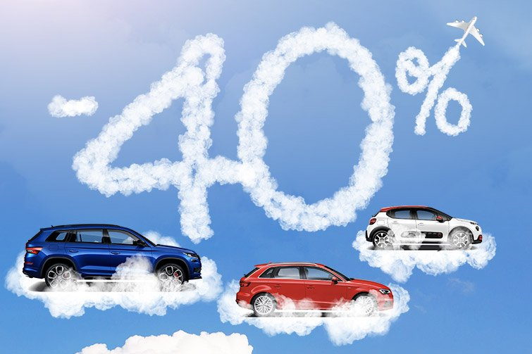 Rent a vehicle at 40% lower prices